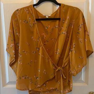Express wrap blouse